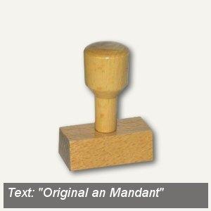 Vorgangsstempel Original an Mandant