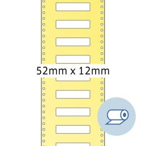 Rollenetiketten - 52 x 12 mm