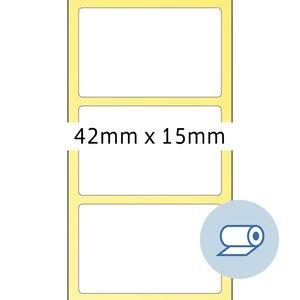 Rollenetiketten - 42 x 15 mm
