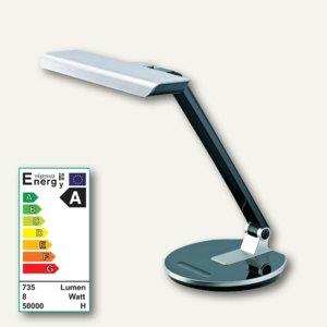 Alco LED-Tischleuchte 9151, Kopf/Arm verstellbar, dimmbar, silber/schwarz, 9151