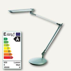 LED-Arbeitsplatzleuchte 9158, Doppelarm, flexibel, silber/anthrazit, 9158