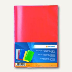 Heftschoner DIN A5, PP, transparent/farbig sortiert, 10 St