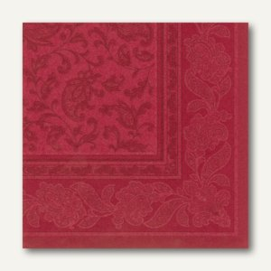 Servietten ROYAL Ornaments, 1/4-Falz, 40 x 40 cm, bordeaux, 160 St., 17052