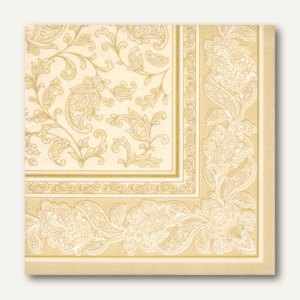 Servietten ROYAL Ornaments, 1/4-Falz, 40 x 40 cm, champagner, 160 St., 17054