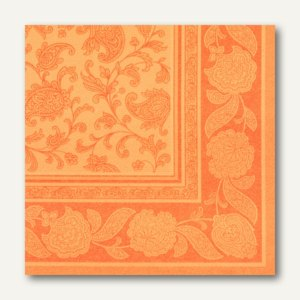 Papstar Servietten ROYAL Ornaments, 1/4-Falz, 40 x 40 cm, orange, 160 St., 11419