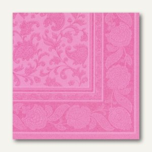 Papstar Servietten ROYAL Ornaments, 1/4-Falz, 40 x 40 cm, rosa, 160 St., 11415