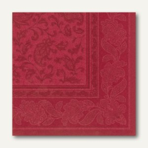 Servietten ROYAL Ornaments, 1/4-Falz, 40 x 40 cm, bordeaux, 250 St., 11668