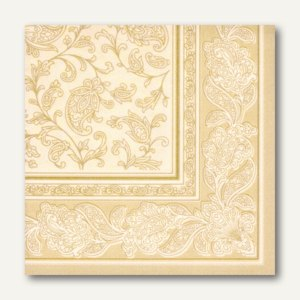 Servietten ROYAL Ornaments, 1/4-Falz, 40 x 40 cm, champagner, 250 St., 11681