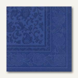 Servietten ROYAL Ornaments, 1/4-Falz, 40 x 40 cm, dunkelblau, 250 St., 11665