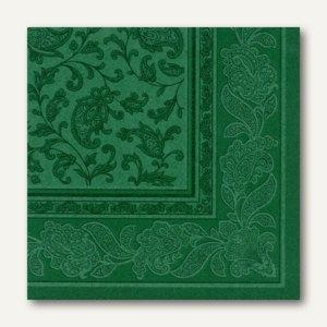 Servietten ROYAL Ornaments, 1/4-Falz, 40 x 40 cm, dunkelgrün, 250 St., 11666
