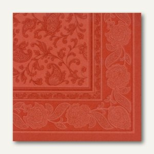 Servietten ROYAL Ornaments, 1/4-Falz, 40 x 40 cm, terracotta, 250 St., 11680