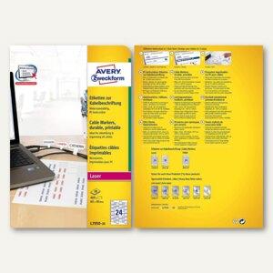 Zweckform Etiketten zur Kabelbeschriftung, 60 x 40 mm, Laser, 480 Stück,L7950-20