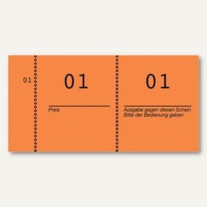 Nummernblöcke 1-1.000, fortlaufend nummeriert, orange, 10 Blöcke á 100 Blatt