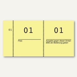 Nummernblöcke 1-1.000, fortlaufend nummeriert, gelb, 10 Blöcke á 100 Blatt