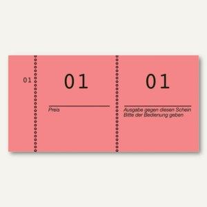 Nummernblöcke 1-1.000, fortlaufend nummeriert, rot, 10 Blöcke á 100 Blatt