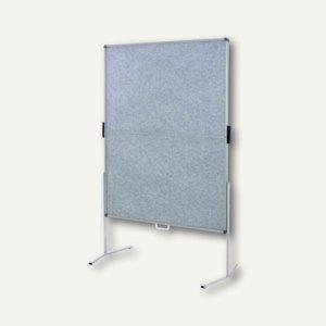 Pinwand mobile, Filz, Standbeine, klappbar&transportabel, 118x149 cm, grau, M825