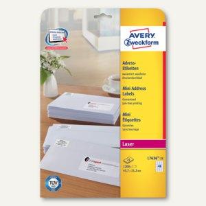 Adress-Etiketten Absender-Etikett 45.7 x 21.2 mm