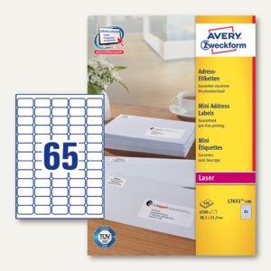 Adress-Etiketten Absender-Etikett 38.1 x 21.2 mm