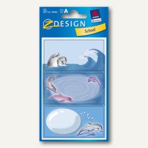 Z-Design Buchetiketten Delfin