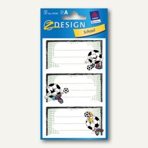 Z-Design Buchetiketten Fußballtor