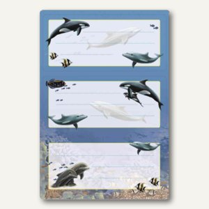 Buchetiketten Vario Delfine