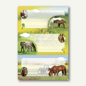 Buchetiketten Vario Pferde