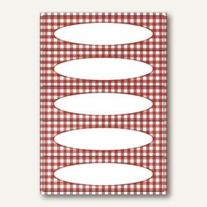 Küchenetiketten Vichy-Karo Rot