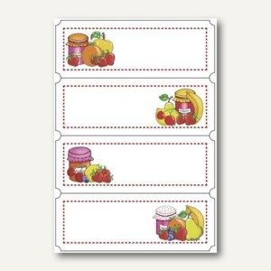 Küchenetiketten Fruchtauswahl