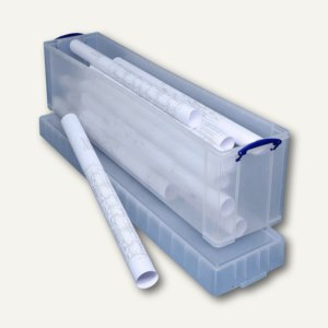 3 x Really Useful Box Aufbewahrungsbox 4,0 Liter für A4 Papier transparent