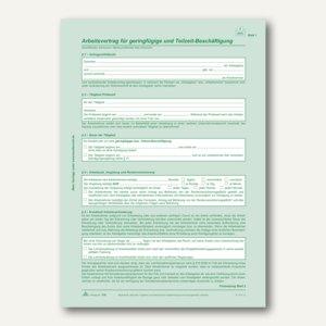 Arbeitsvertrag geringfügig-/Teilzeit-Beschäftigte