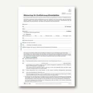 Mietvertrag Kfz-Einstellplatz