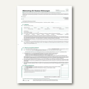 Mietvertrag Neubauwohnung