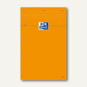 Notizblock, 210x315mm, gelbes Papier, 80g/qm, 4-fach Loccung, liniert, Rand,5St.