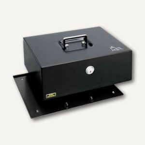 Geldkassette Royal 300 A, Anschraubboden, 300 x 240 x 120 mm, schwarz