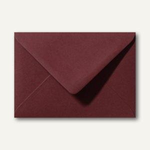 Briefumschläge 110 x 156 mm nassklebend ohne Fenster dunkelrot 500St.