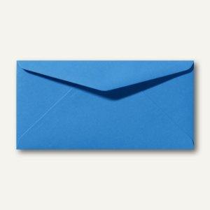 Briefumschläge 110 x 220 mm DL nassklebend ohne Fenster königsblau 500St.