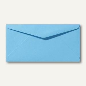 Briefumschläge 110 x 220 mm DL nassklebend ohne Fenster ozeanblau 500St.