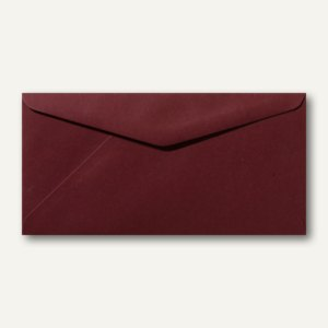 Briefumschläge 110 x 220 mm DL nassklebend ohne Fenster dunkelrot 500St.