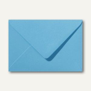 Farbige Briefumschläge 156 x 220 mm nassklebend ohne Fenster ozeanblau 500St.