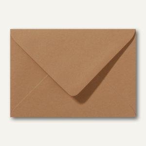 Farbige Briefumschläge 156 x 220 mm nassklebend ohne Fenster braun 500St.