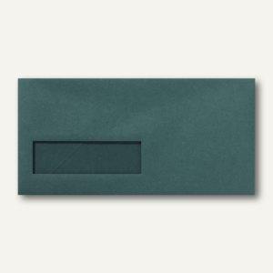 Briefumschläge 110x220mm DL nassklebend Fenster links 30x100mm grün 500St.