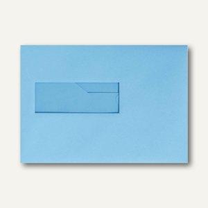Farbige Briefumschläge 156x220mm nasskleb. Fenster li 40x110mm ozeanblau 500St.