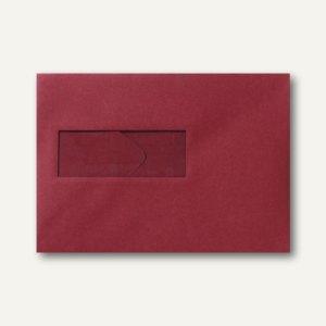 Farbige Briefumschläge 156x220mm nasskleb. Fenster li 40x110mm dunkelrot 500St.