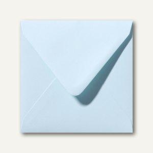Briefumschläge 120 x 120 mm nassklebend ohne Fenster hellblau 500St.