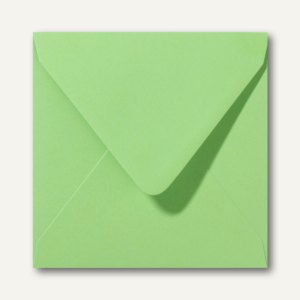 Briefumschläge 120 x 120 mm nassklebend ohne Fenster apfelgrün 500St.