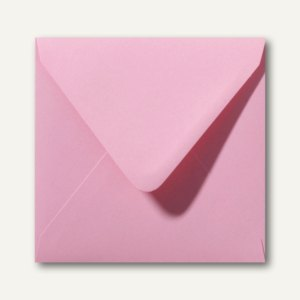 Briefumschläge 120 x 120 mm nassklebend ohne Fenster dunkelrosa 500St.