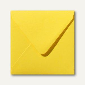 Briefumschläge 120x120mm nassklebend ohne Fenster butterblumengelb 500St.