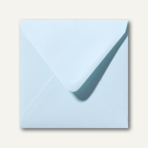 Farbige Briefumschläge 140 x 140 mm nassklebend ohne Fenster hellblau 500St.