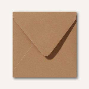 Farbige Briefumschläge 140 x 140 mm nassklebend ohne Fenster braun 500St.