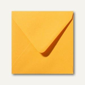 Farbige Briefumschläge 140 x 140 mm nassklebend ohne Fenster goldgelb 500St.